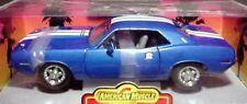 1970 Plymouth Cuda Blue 1:18 Ertl American Muscle 7982