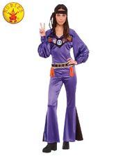 RD Ladies Costume Fancy Dress - Hippy Purple Jumpsuit 70'S BABE HIPPIE  820640