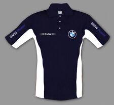 Herren BMW Polo T-shirt Motor Sport Hemd Bestickt Kleidung - Grosse S-3XL