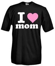 T-Shirt girocollo manica corta I19 I love mom