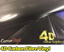 4D Gloss Black Carbon Fibre Vinyl Wrap Sticker Air/Bubble Free All Size Cheapest