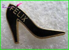 Pin's Chaussures Shoes FELIX Noir Talon  #2057