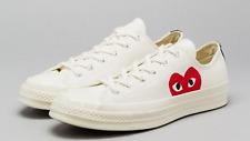 CONVERSE X COMME DES GARCONS PLAY Chuck Taylor '70 Low White Mens Shoes 8-13
