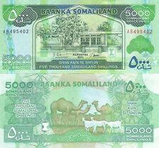 Listado de múltiples variaciones 3 denominaciones billetes de Somalilandia UNC