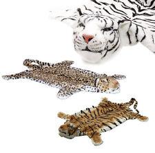 BRUBAKER Plush Animal Skin Brown Tiger Leopard White Tiger Chimney Bedside Rug
