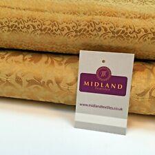 Floral Gold Textured Banarsi Lame Brocade Fabric 111 cm MA1124 Mtex