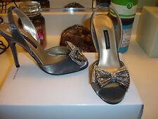Caparros Jinelle Gunmetal Shimmer heel wedding prom bridal   6 6.5 7 $99 Nice
