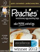 POACHIES EGG POACHING  BAGS POACH POACHED EGGS BAG 20 40 60 120 240 480