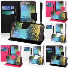 Custodia Protettiva per SAMSUNG GALAXY E5 SM-E500 cellulare portafoglio plastica