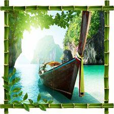 Stickers déco bambou Barque5216