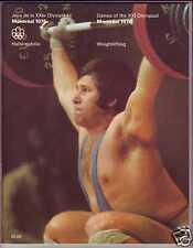 ORIGINAL PROGRAM MONTREAL 1976 OLYMPIC : WEIGHTLIFTING
