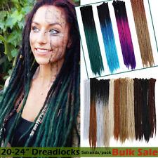 "24"" Dreadlock Hair Extensions Single Ended Twist Crochet Braids Dreads 5 Packs 9"