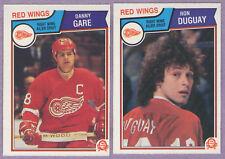 1983-84 OPC O-PEE-CHEE Detroit Red Wings Team Set