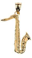 Gold Saxophone 3D Pendant Musical Chorus Band Instruments
