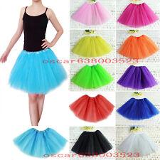 TUTU elastico tul 3 capas para niña bebe distintas COLORES falda disfraz ballet