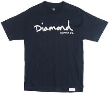 Diamond Supply Co. OG SCRIPT TEE Navy White Off White Print S/S Men's T-Shirt