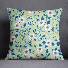S4Sassy Floral imprimé décoratif menthe coussin couverture Throw- PAR-SUB-SAS43N