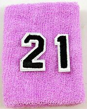 NEW! Custom Number Purple Black Wristband Sweatband Football Baseball Basketball