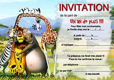 5 o 12 invitaciones de cumpleaños ANIMAL ANIMALES ref 273