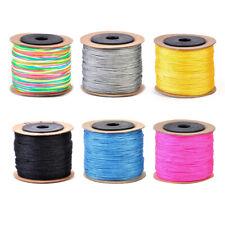 100M 0.8mm Chinese Knot Nylon Cord Rattail Macrame Beading Braided String Thread