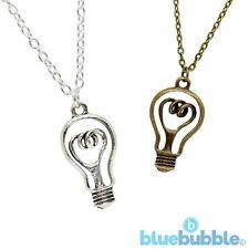 Mini Light Bulb Gold Effect Necklace BNWT John Lewis Costume Jewellery