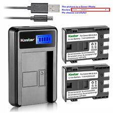 Kastar Battery Charger Canon NB-2L NB-2LH NB-2L12 NB-2L14 NB-2L24 BP-2L5 BP-2LH