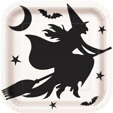 Noir les Chauves-Souris et Sorcière sur Balai Halloween 23cm