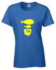 grande pesce piccolo pesce donna t shirt Divertente PIETRA ballerina Rose
