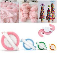 Pom Pom maker round & heart shaped 4 size round small large knitting Needle kit