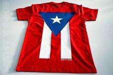 PUERTO RICO - MI BANDERA | FULL FLAG | BORICUA | PREMIUM | RED T-SHIRT