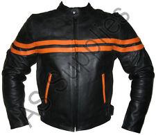 """STIGMA"" New Leather Biker Motorcycle Jacket - All sizes!"