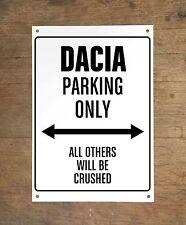 DACIA PARKING ONLY Targa cartello metallo auto metal sign car garage