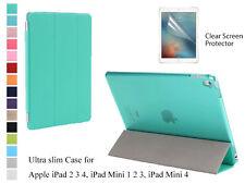 For iPad 2 3 4 iPad Mini 1 2 3 4 Screen Protector Slim Magnetic Smart Cover Case