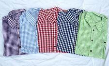 Trachtenhemd Hemd zur Lederhose Gr S-5XL  versch Farben Karohemd 100% Baumwolle
