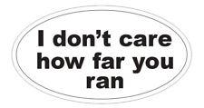 Funny Runner Sticker Oval Bumper Sticker or Helmet Sticker D3817 Marathon