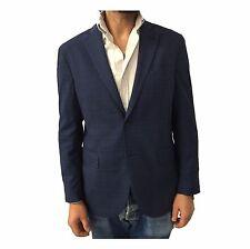 LUIGI BIANCHI MANTOVA giacca uomo sfoderata principe di Galles avio/azzurro