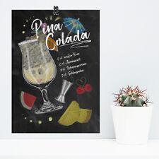 """JUNIWORDS Poster /""""Cocktails/"""" Bar Getränke Alkohol DIN A4 A3 A2 A1"""