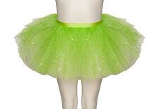 Citron Vert Paillettes Scintillantes Dance Ballet JUPE TUTU ENFANTS &