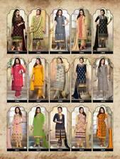3 Piece South Indian Bollywood Designer Unstitched Anarkali Salwaar Kameez suit