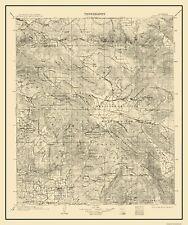 Topographical Map Print - Ramona California Quad - USGS 1903 - 23 x 27.5