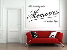 Making Memories Citazione Vinile Muro ARTE Adesivo Murale, Decalcomania,
