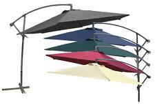 Ampelschirm Sonnenschirm Ø 3m  mit Kurbel und Stahlfuß 7 Farben zur Auswahl
