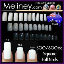500/600pc Square Full Cover False Nails Short Long Fake Nail Tips Artificial