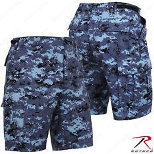 Men's Sky Blue Digital Camo BDU Shorts - Rothco Digital Camo Military Shorts