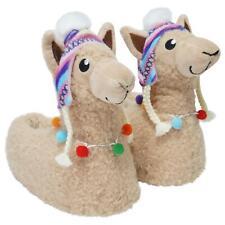 Ladies & Girls Matching Mum & Daughter Peruvian Hat 3D Llama Cute Cosy Slippers