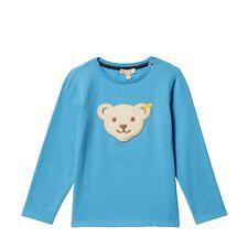 STEIFF Shirt Langarm Marina Blau mit Teddykopf  Gr. 86 - 116 NEU