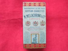 ORIGINAL M. MELACHRINO & CO CIGARETTES LITHO TIN BOX
