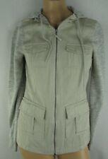 Empyre Women's Lamont Khaki Full-Zip Drawstring Hooded Part Fleece Jacket