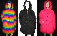 FLUFFY JACKETS COATS FUR MONSTER MULTI, PINK, BLACK, LONG FURRY WARM COAT JACKET