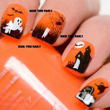 Halloween Nail Art Acqua trasferimento decalcomanie avvolge BAT SPIDER GHOST STREGATA y749
